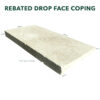 Rebated Drop Face Coping
