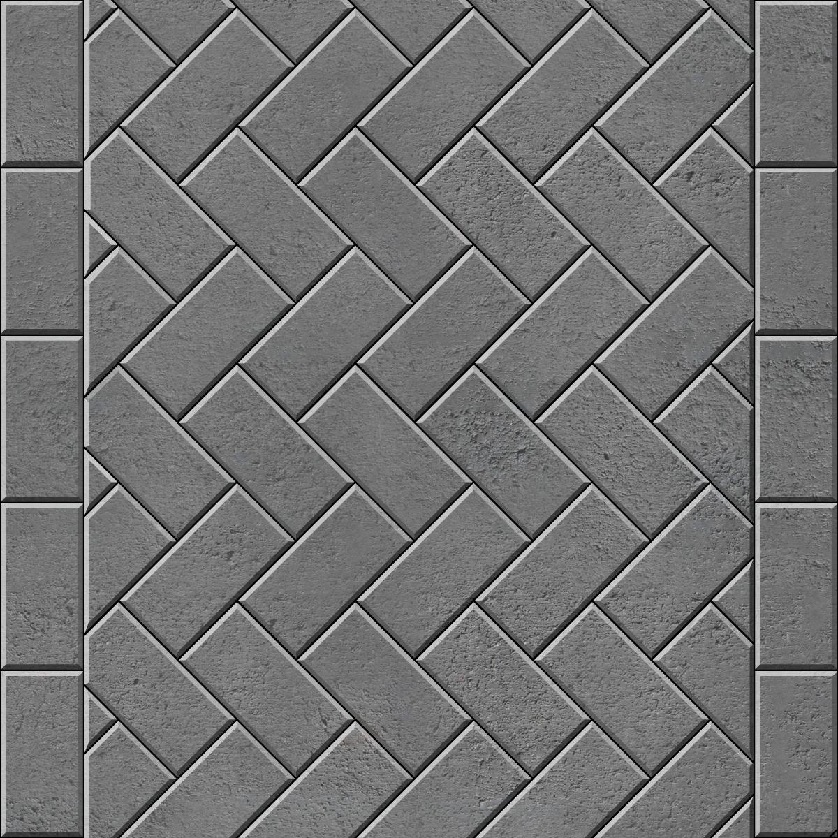 45 Herringbone with flat header course brick