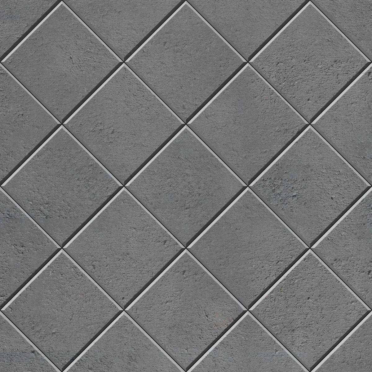 45 Stack Bond Diamond square paver