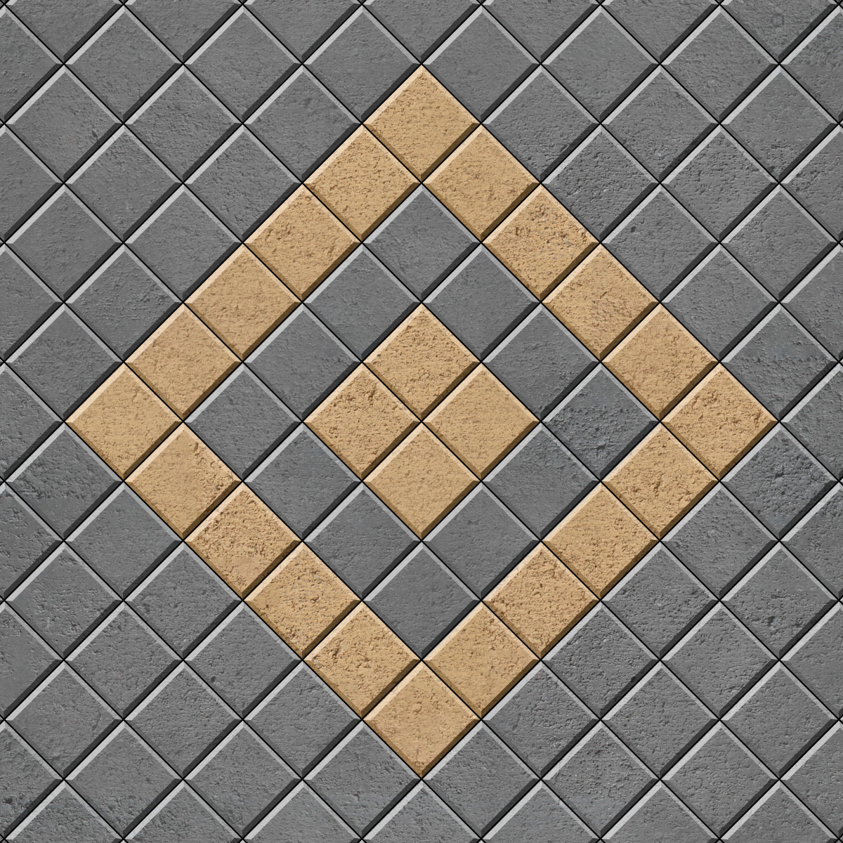 45 Stack Bond with contrasting diamond inlay