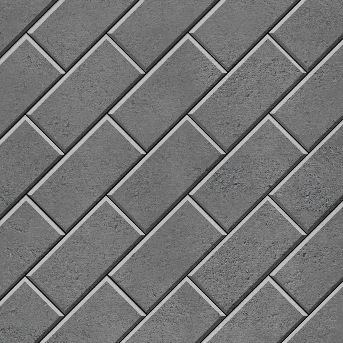 45 Stretcher Bond (rectangle) Grey1200