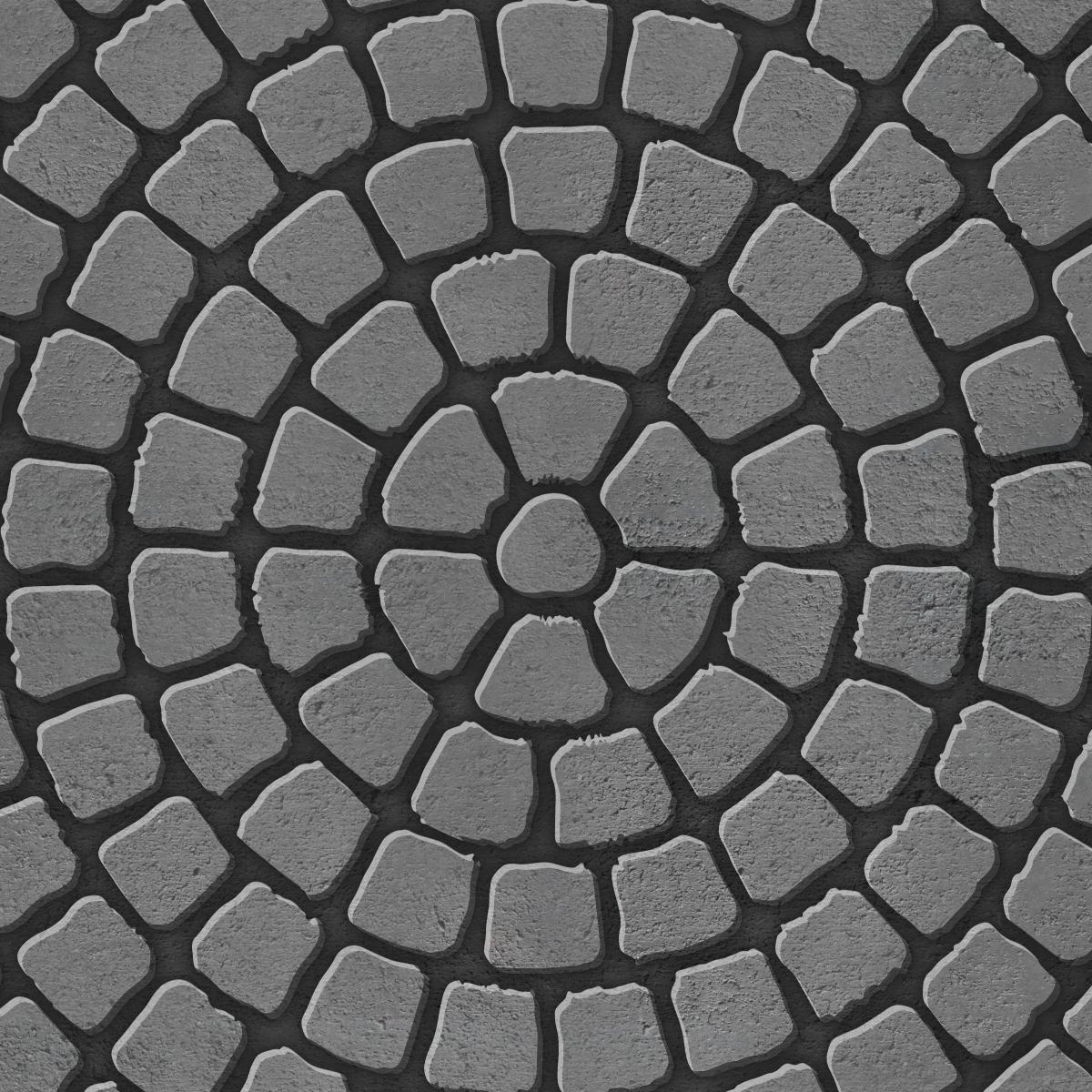 Circle paving pattern