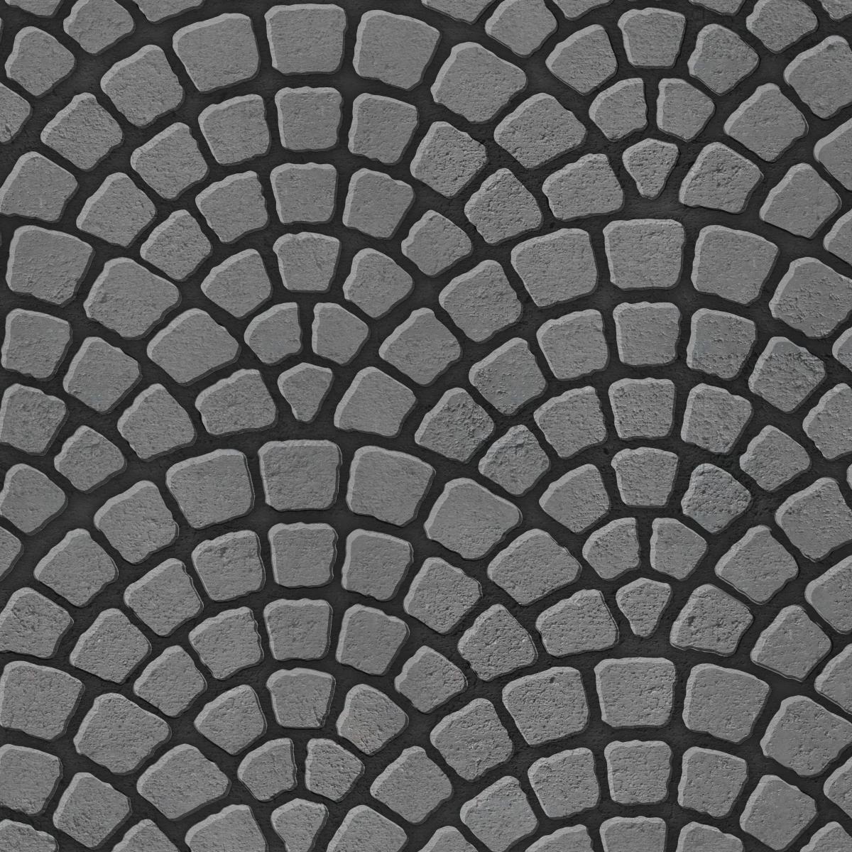 Scallop paving pattern