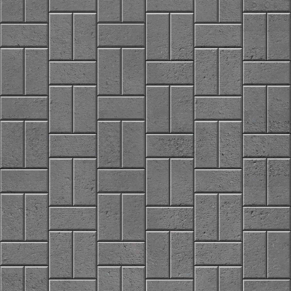 Single Basketweave Offset brick paver