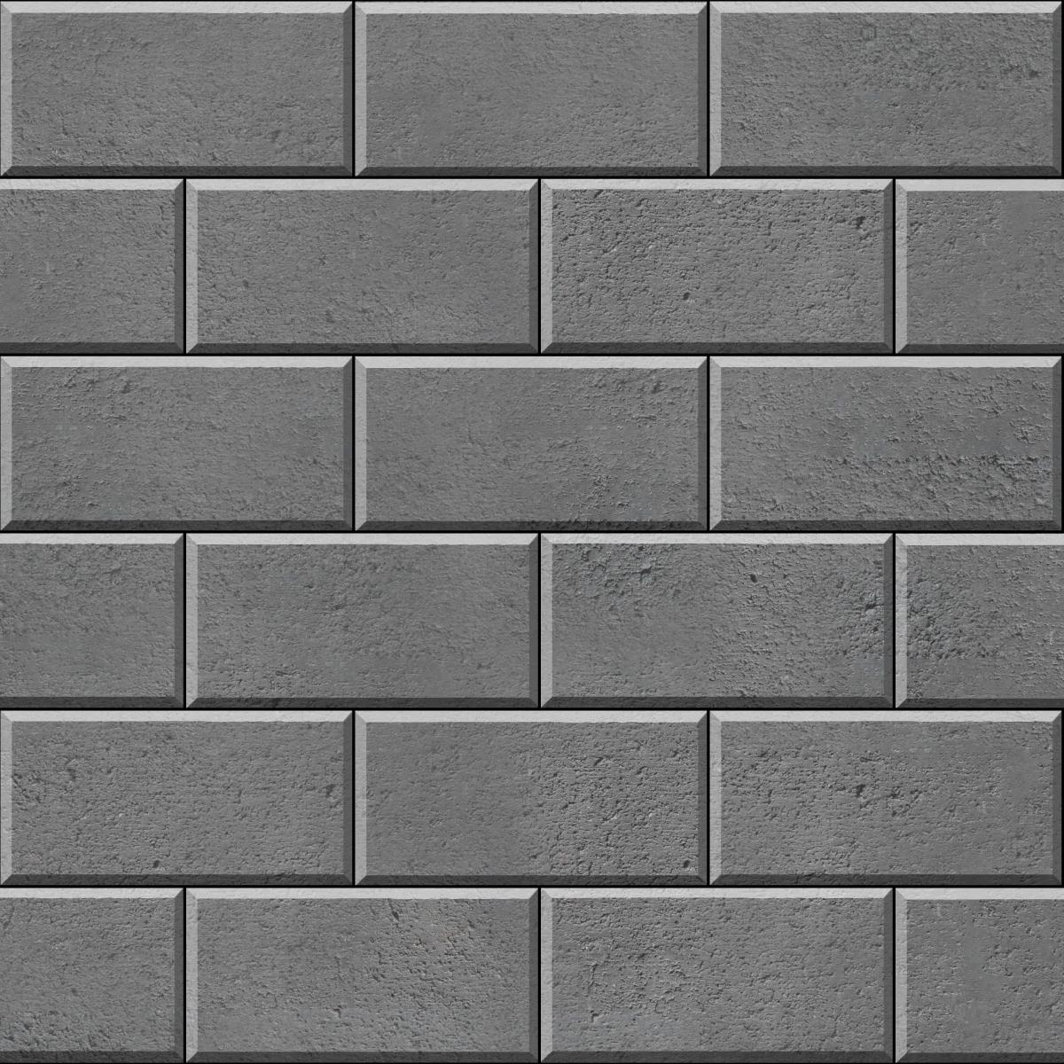 Stretcher Bond - Brick Bond (rectangle) Grey1200