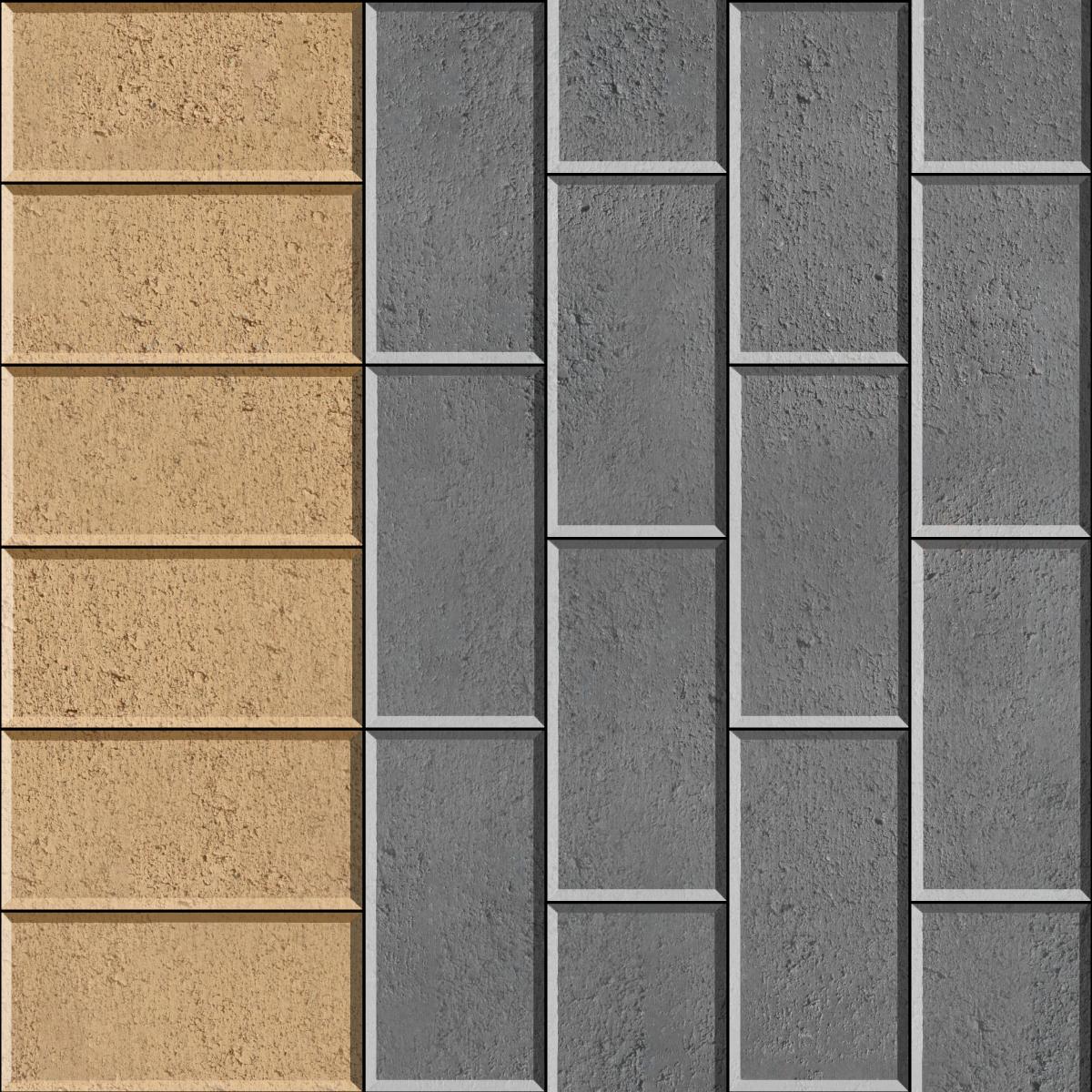 Stretcher Bond with contrasting header brick paver